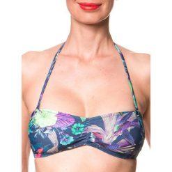"""Biustonosz bikini """"Siramisu"""" w kolorze granatowym ze wzorem. Szare biustonosze bezszwowe marki Esprit. W wyprzedaży za 56,95 zł."""