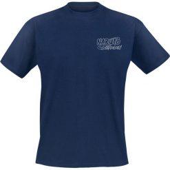 T-shirty męskie z nadrukiem: Naruto Shippuden – Uchiha T-Shirt granatowy