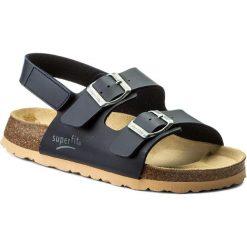 Sandały męskie skórzane: Sandały SUPERFIT – 8-00124-80 D Ocean