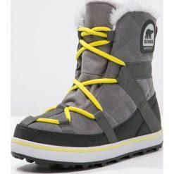Sorel GLACY EXPLORER SHORTIE Botki sznurowane quarry. Szare buty zimowe damskie Sorel, z materiału, na sznurówki. Za 629,00 zł.