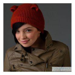 Miś - czapka z uszami. Czarne czapki zimowe damskie marki KIPSTA, m, z elastanu, z długim rękawem, na fitness i siłownię. Za 111,00 zł.