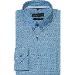 Koszula SIMONE KDGS000340. Niebieskie koszule męskie na spinki Giacomo Conti, m, z bawełny, button down, z długim rękawem. Za 259,00 zł.