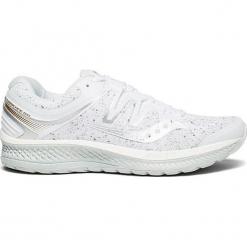 """Buty sportowe """"Hurricane Iso"""" w kolorze białym. Białe buty sportowe damskie Saucony, z materiału. W wyprzedaży za 363,95 zł."""