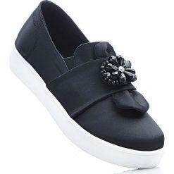 Buty wsuwane bonprix czarny. Szare buty sportowe damskie marki bonprix, z materiału. Za 79,99 zł.