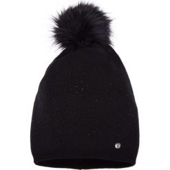 Czapki damskie: Czarna ciepła czapka QUIOSQUE