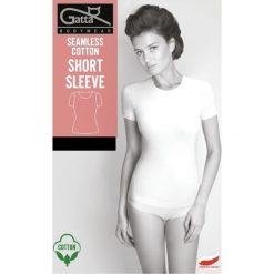 GATTA Koszulka damska Seamless Cotton Short Sleeve czarna r. XL. T-shirty damskie Gatta, xl. Za 51,37 zł.