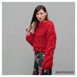Cardigan damski, sweter wełniany na drutach. Szare kardigany damskie Pakamera, z materiału. Za 494,00 zł.