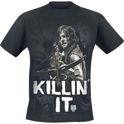 T-shirty męskie z nadrukiem: The Walking Dead Daryl Dixon – Killin' it T-Shirt czarny