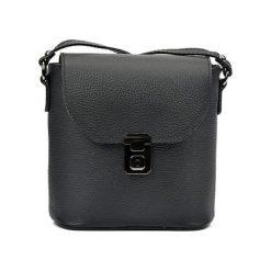 Torebki klasyczne damskie: Skórzana torebka w kolorze czarnym – (S)21 x (W)22 x (G)7,5 cm