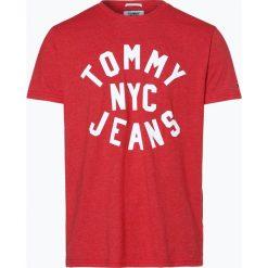 Tommy Jeans - T-shirt męski, czerwony. Czerwone t-shirty męskie marki Tommy Jeans, l, z jeansu. Za 99,95 zł.