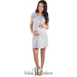 Bielizna ciążowa: Koszula nocna dorita krótki rękaw melanżowo-pistacjowa r. L
