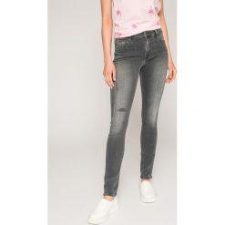 Tommy Jeans - Jeansy. Szare rurki damskie Tommy Jeans, z bawełny. W wyprzedaży za 319,90 zł.