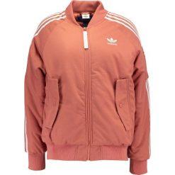 Adidas Originals SHORT Kurtka Bomber rawpin. Szare bomberki damskie marki adidas Originals, na co dzień, z nadrukiem, z bawełny, casualowe, z okrągłym kołnierzem, proste. W wyprzedaży za 486,75 zł.