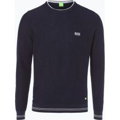 Swetry klasyczne męskie: BOSS Athleisure – Sweter męski – Rome_W17, niebieski