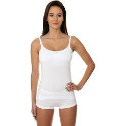Bluzki asymetryczne: Brubeck Koszulka damska Camisole COMFORT COTTON biała r. L (CM00210A)