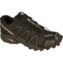 Salomon Buty damskie Speedcross 4 W Black/Black/Black Metallic r. 37 1/3 (383097). Szare buty sportowe damskie marki Salomon, z gore-texu, na sznurówki, outdoorowe, gore-tex. Za 341,19 zł.