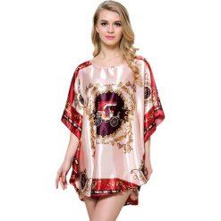 Koszule nocne i halki: Koszula nocna w kolorze pudrowym