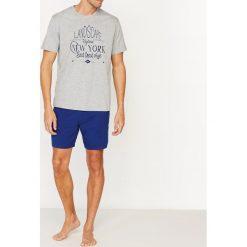 Piżamy męskie: Piżama z krótkimi spodenkami, dwukolorowa, dżersej bawełniany