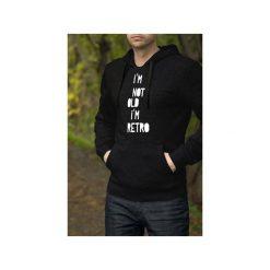 I'm not old męska czarna bluza z kapturem. Czarne bluzy męskie rozpinane One mug a day, l, z bawełny, z kapturem. Za 179,00 zł.
