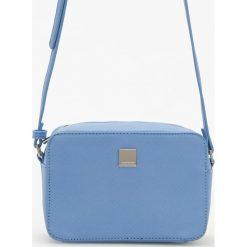 Torebki klasyczne damskie: Mała torebka na regulowanym pasku – Niebieski