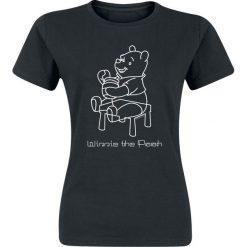 Kubuś Puchatek Sketchy Pooh Koszulka damska czarny. Czarne bluzki asymetryczne Kubuś Puchatek, l, z motywem z bajki. Za 42,90 zł.