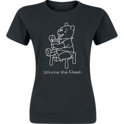 Kubuś Puchatek Sketchy Pooh Koszulka damska czarny. Czarne bluzki damskie Kubuś Puchatek, l, z motywem z bajki. Za 42,90 zł.