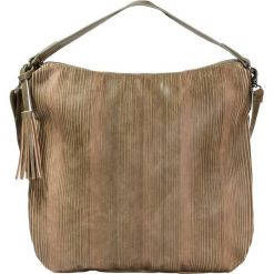 Shopper bag damskie: Torba shopper w perforowany wzór bonprix oliwkowy