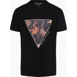 Review - T-shirt męski, czarny. Niebieskie t-shirty męskie z nadrukiem marki Review. Za 79,95 zł.