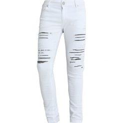 Spodnie męskie: Criminal Damage CAMDEN  Jeansy Slim Fit white