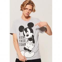 T-shirt Mickey Mouse - Szary. Szare t-shirty męskie House, l, z motywem z bajki. Za 59,99 zł.