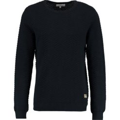 Swetry klasyczne męskie: Lindbergh STRUCTURE ONECK Sweter navy