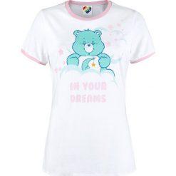 Troskliwe Misie Schlummerbärchi - In Your Dreams Koszulka damska biały/różowy. Białe bluzki damskie Troskliwe Misie, xl, z nadrukiem, z okrągłym kołnierzem. Za 74,90 zł.