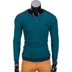 Bluzy męskie: BLUZA MĘSKA BEZ KAPTURA B731 - MORSKA