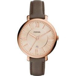 Fossil JACQUELINE Zegarek grau. Różowe zegarki damskie marki Fossil, szklane. Za 499,00 zł.