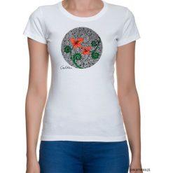 Bluzki, topy, tuniki: Czerwone kwiaty – t-shirt – różne kolory