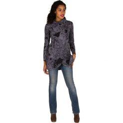 Bluzy rozpinane damskie: Bluza w kolorze czarno-szarym