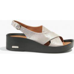 Rzymianki damskie: Sandały srebrne Angela