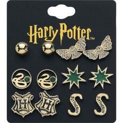 Harry Potter Slytherin Kolczyki - Earpin złoty. Żółte kolczyki damskie Harry Potter, szklane. Za 79,90 zł.