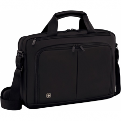 Wenger Source 14'' czarna. Czarne torby na laptopa Wenger, w paski. Za 229,00 zł.