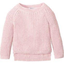 Sweter z połyskiem bonprix bladoróżowy z połyskiem. Czarne swetry dziewczęce marki bonprix, w paski, z dresówki. Za 24,99 zł.