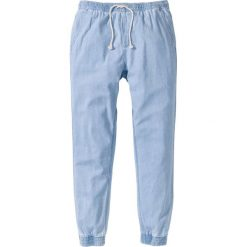 """Dżinsy bez zamka w talii Slim Fit Straight bonprix jasnoniebieski """"heavy bleached"""". Niebieskie rurki męskie marki bonprix, z jeansu. Za 37,99 zł."""