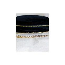Torba ze złotym łańcuszkiem. Czarne torebki klasyczne damskie marki Szczypta, z bawełny, małe. Za 210,00 zł.