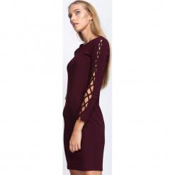 Ciemnofioletowa Sukienka Divergent. Fioletowe sukienki dzianinowe Born2be, na jesień, l. Za 44,99 zł.