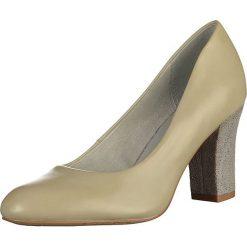 Buty ślubne damskie: Skórzane czółenka w kolorze jasnozielonym