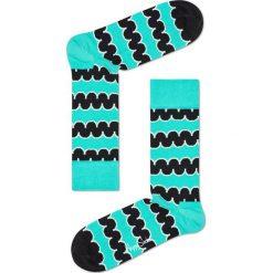 Happy Socks - Skarpety Squiggly. Niebieskie skarpetki męskie Happy Socks, z bawełny. W wyprzedaży za 29,90 zł.