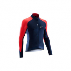 Koszulka długi rękaw na rower ROADCYCLING 900 męska. Niebieskie odzież rowerowa męska marki QUECHUA, m, z elastanu. Za 129,99 zł.
