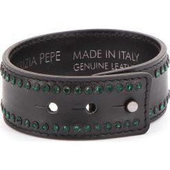 Bransoletka PATRIZIA PEPE - 2V8372/A2UX-F1TK Black/Shiny Green. Czarne bransoletki męskie marki Patrizia Pepe, ze skóry. W wyprzedaży za 209,00 zł.