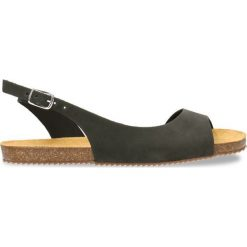 Sandały SHILA. Czarne sandały damskie marki Gino Rossi, w paski, z nubiku, na płaskiej podeszwie. Za 239,90 zł.