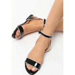 Rzymianki damskie: Czarne Sandały Upbeat