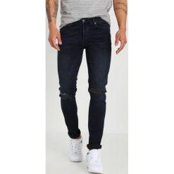 Topman RENEE Jeans Skinny Fit dark blue. Niebieskie rurki męskie Topman. Za 249,00 zł.